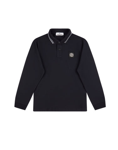 20748 Long Sleeve Polo Shirt in Navy Blue