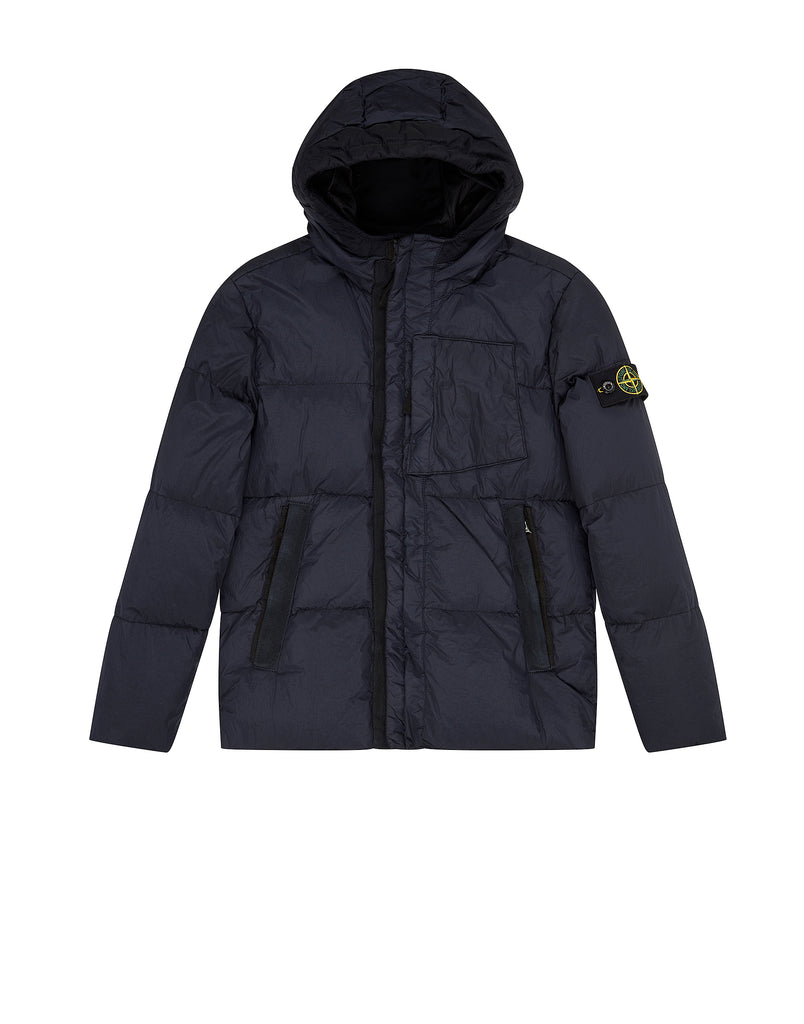 40133 CRINKLE REPS NY DOWN GARMENT DYED Jacket in Navy Blue