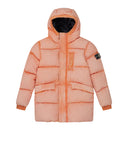 40938 TELA NYLON DOWN WITH DUST COLOUR FROST FINISH Jacket in Orange