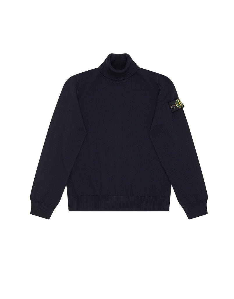 507A4 Turtleneck Knit in Navy Blue