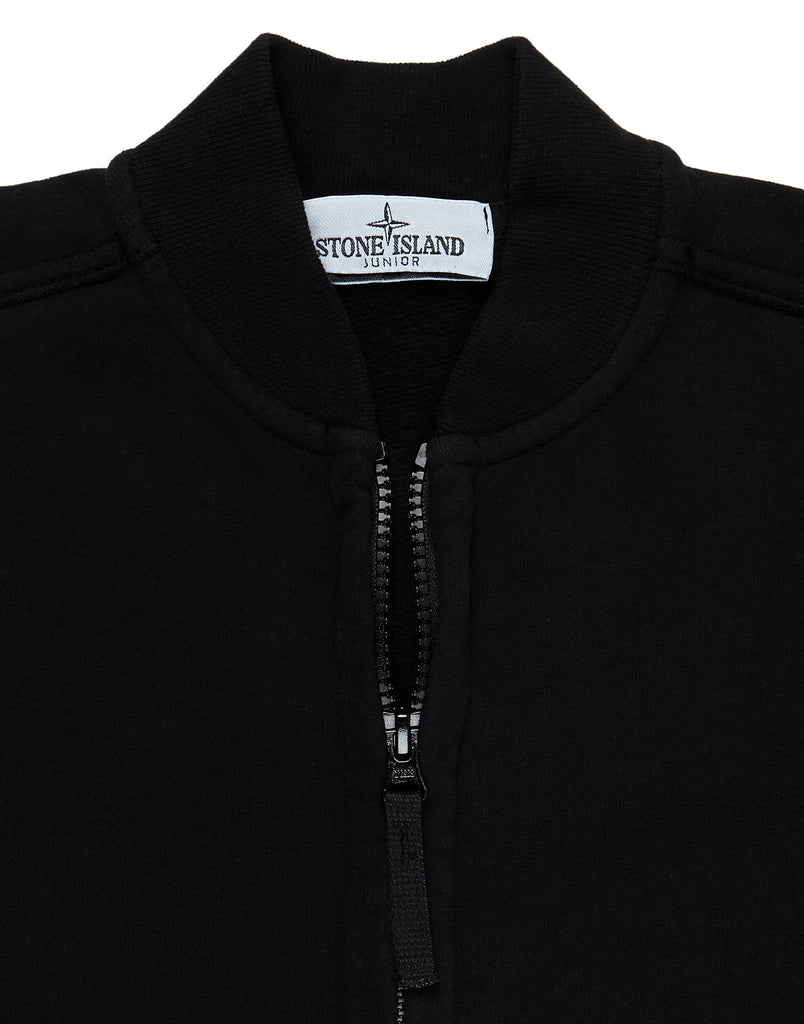 60740  Zip Through Sweatshirt in Black