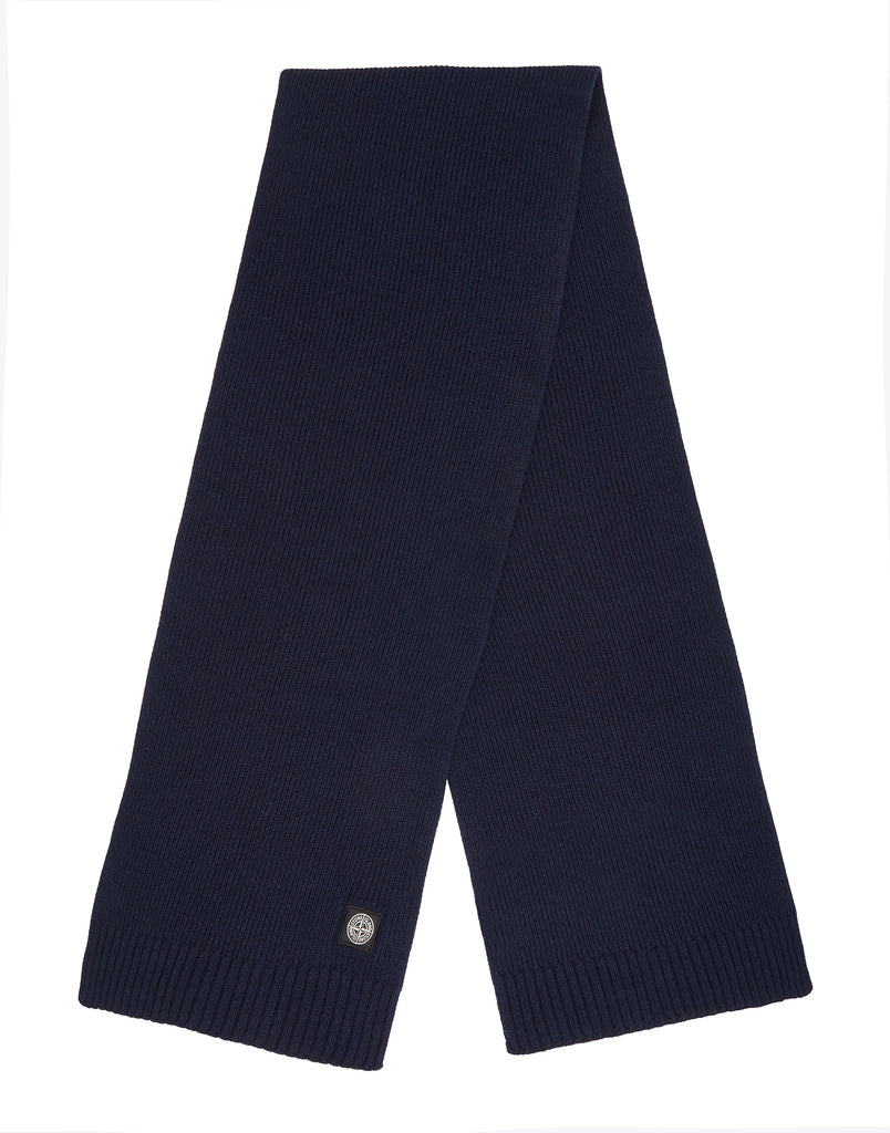 N02A6 Wool Mix Scarf in Navy Blue