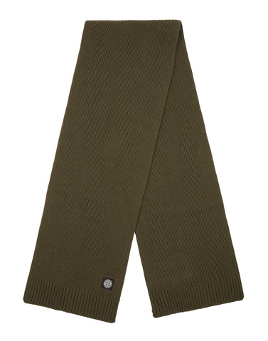 N02A6 Wool Mix Scarf in Green
