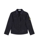 Q0535 Nylon Metal Overshirt in Navy Blue