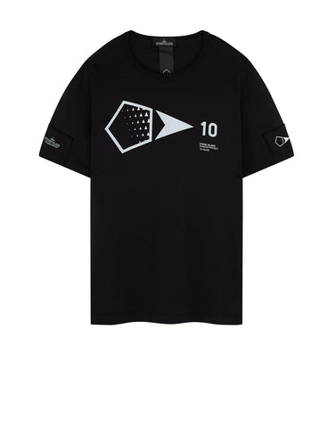 20310 PRINTED SS 10 YEARS ANNIVERSARY-T in Black