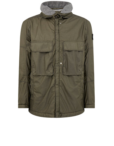 41004 FIELD JACKET 2L WINDPROOF WATER-RESISTANT FABRIC - GARMENT DYED WITH ANTI-DROP AGENT IN Military Green