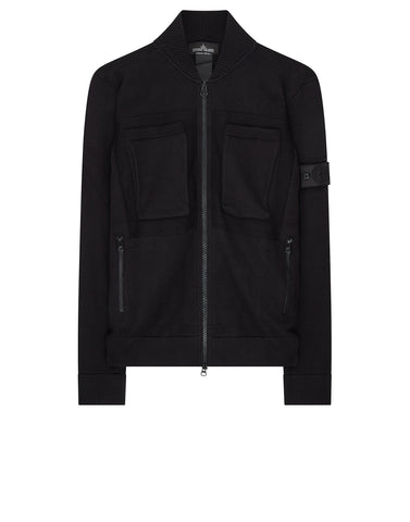 506A1 ENGINEERED BOMBER KNIT (WINTER COTTON) in Black