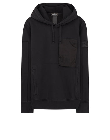 60207 Hooded Sweatshirt in Black