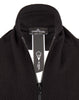 N02A6 WINTER COTTON ZIP SCARF in Black