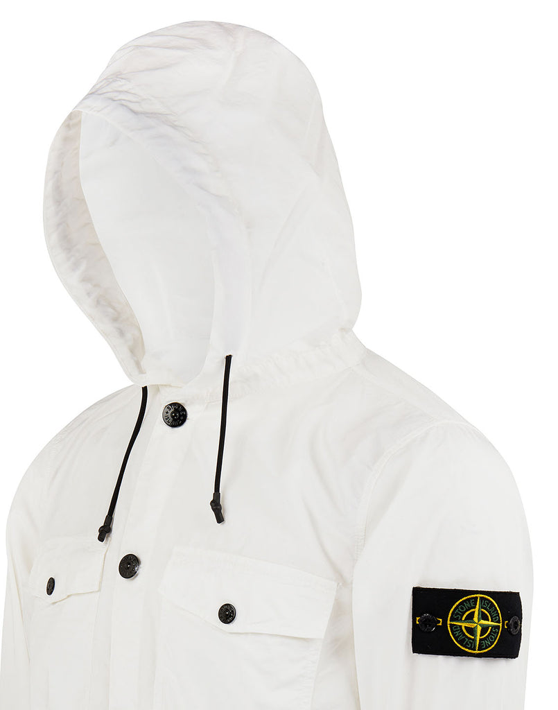 10608 Hooded Overshirt in White