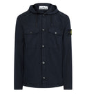10608 Hooded Overshirt in Navy Blue