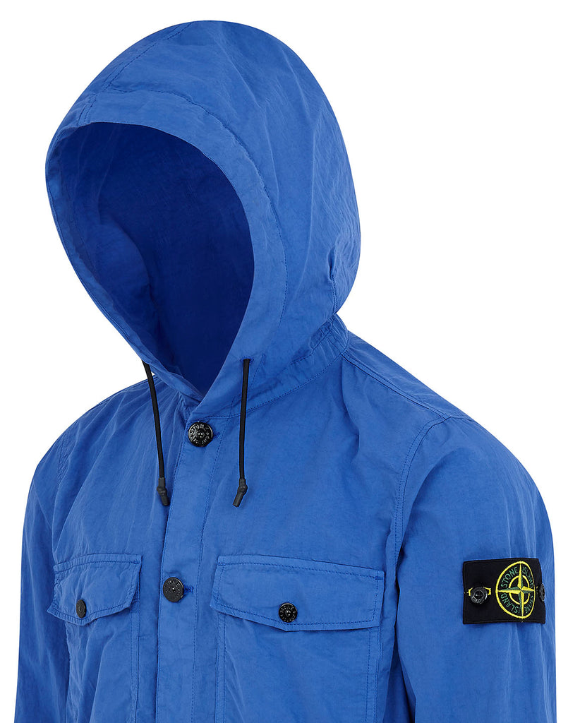 10608 Hooded Overshirt in Periwinkle