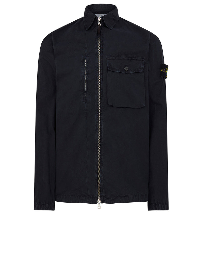 121WN OLD DYE TREATMENT Overshirt in Navy