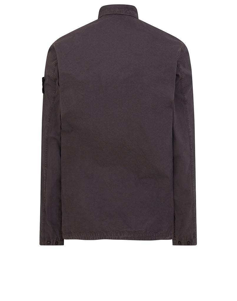 121WN OLD DYE TREATMENT Overshirt in Grey