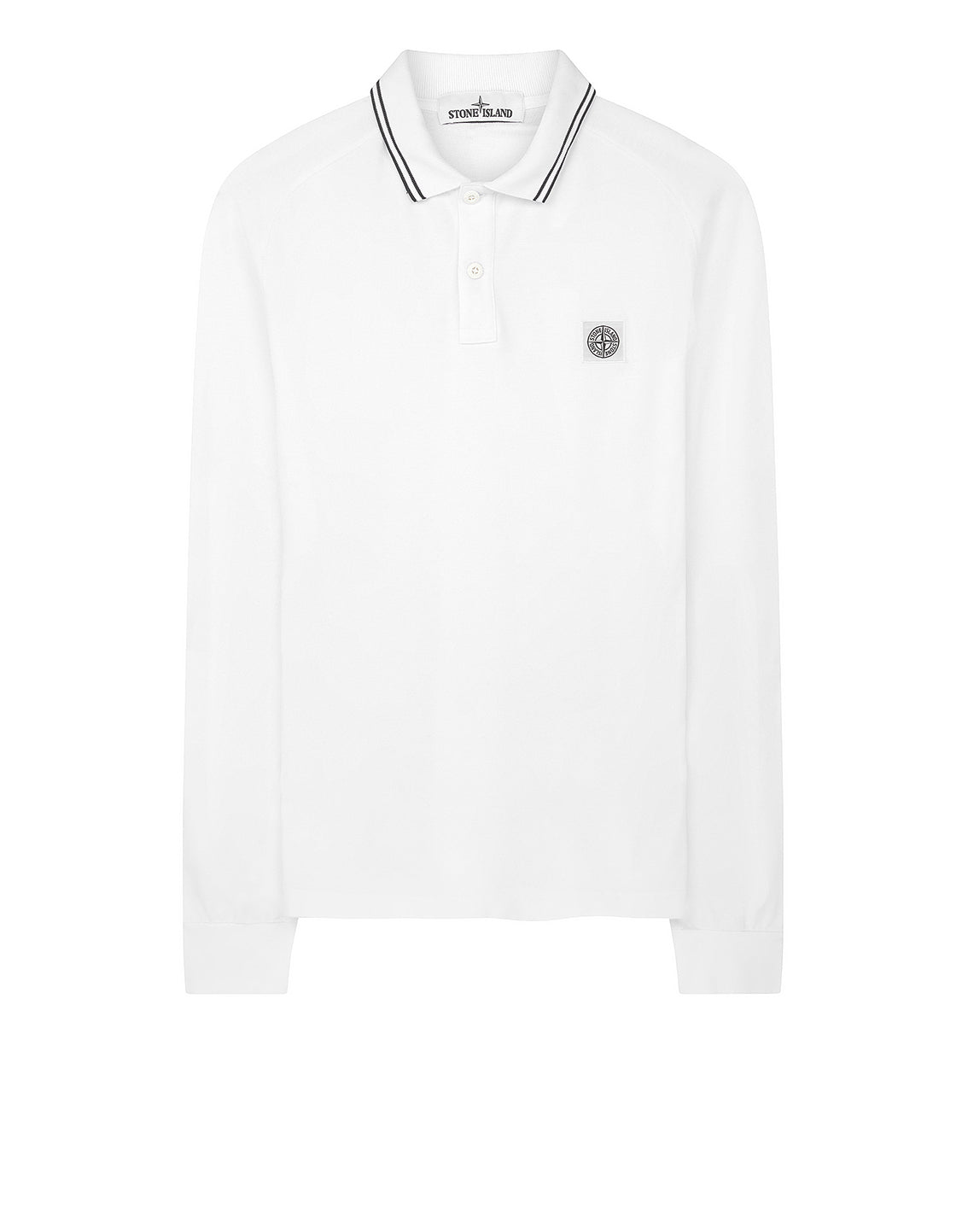 22016 Long Sleeve Polo Shirt in White