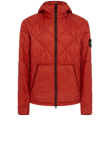 40324 GARMENT DYED QUILTED MICRO YARN Jacket in Brick Red