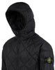 40324 GARMENT DYED QUILTED MICRO YARN Jacket in Black