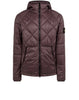 40324 GARMENT DYED QUILTED MICRO YARN Jacket in Purple