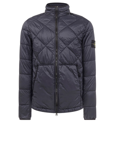 40424 GARMENT DYED QUILTED MICRO YARN Jacket in Navy Blue