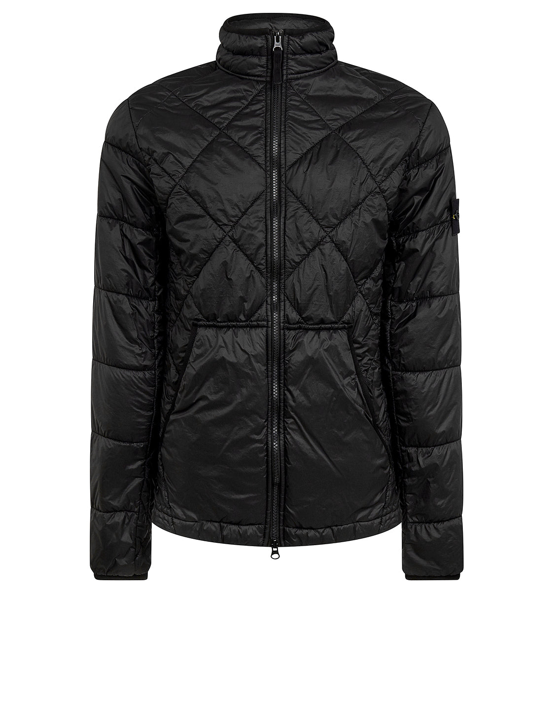 40424 GARMENT DYED QUILTED MICRO YARN Jacket in Black