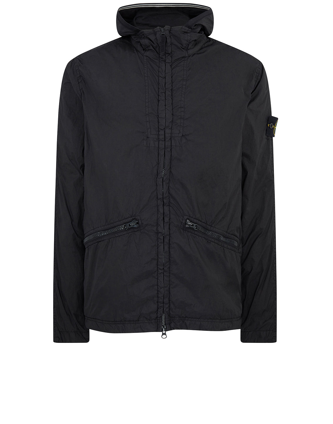 41030 GARMENT DYED CRINKLE REPS NY Jacket in Black