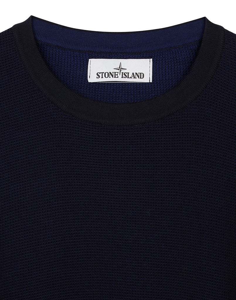 554A7 Two Tone Knit in Navy Blue