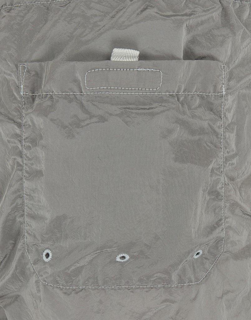 B0643 NYLON METAL Shorts in Pearl Grey