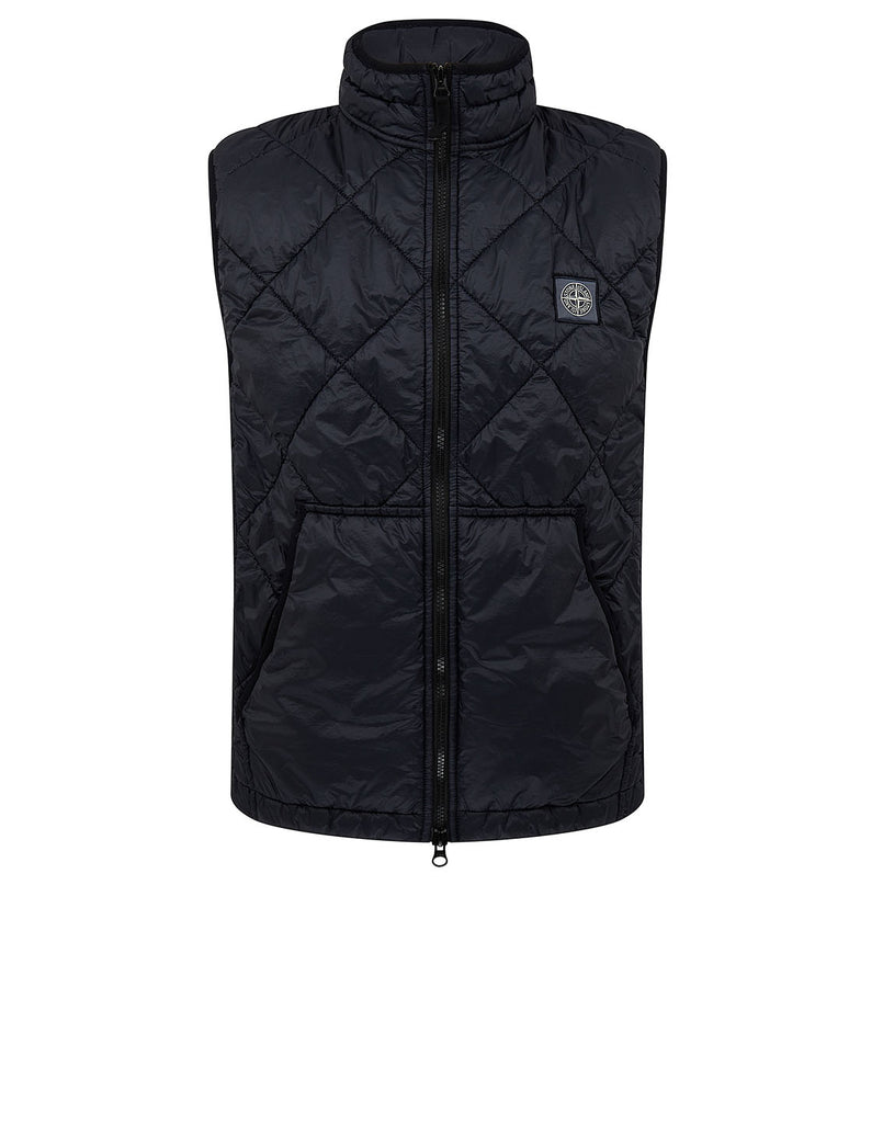 G0124 GARMENT DYED QUILTED MICRO YARN Jacket in Navy Blue