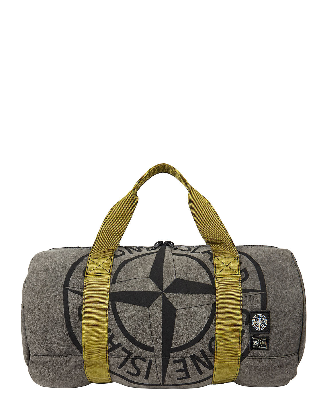 913P1 STONE ISLAND/PORTER STONE ISLAND MAN MADE SUEDE_GARMENT DYED BAG in Olive