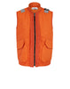 00195 GARMENT DYED LEATHER / DYNEEMA®_ REVERSIBLE_ DETACHABLE LINING Jacket in Orange