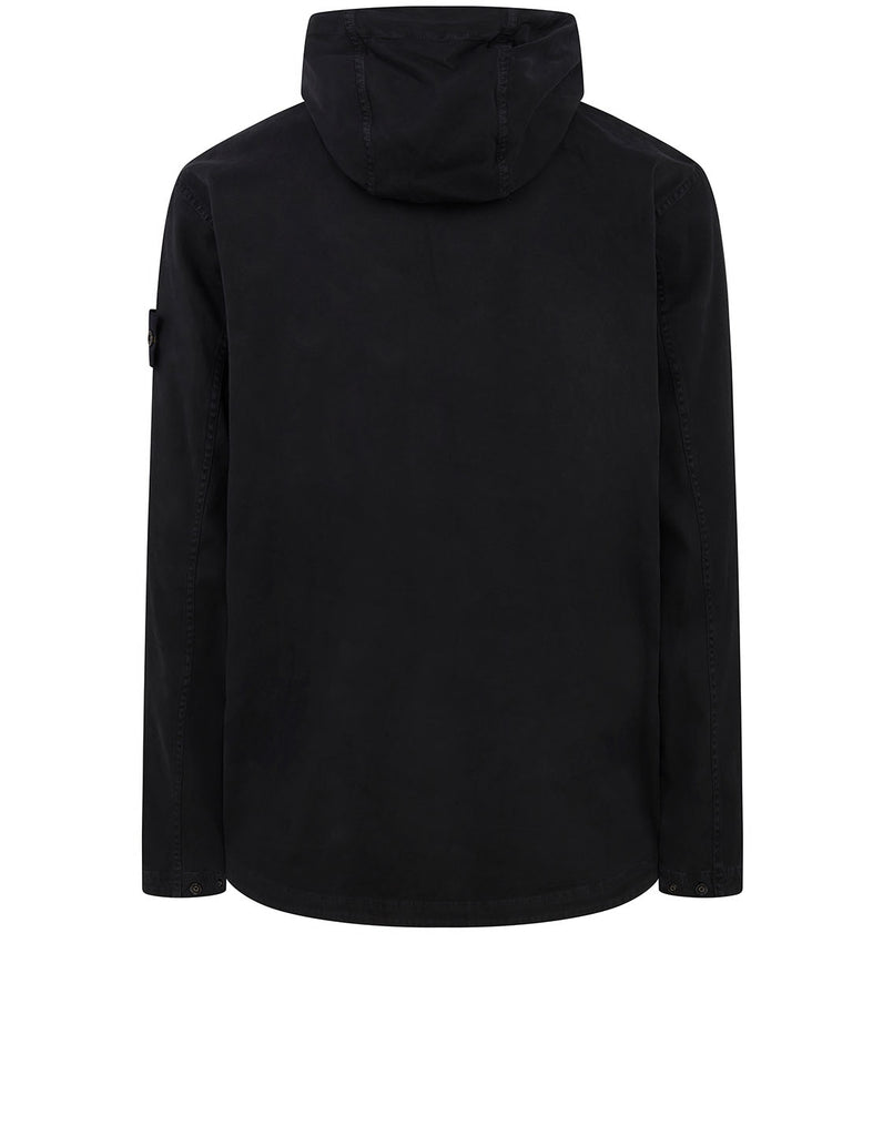 10702 OLD DYE TREATMENT Overshirt in Black