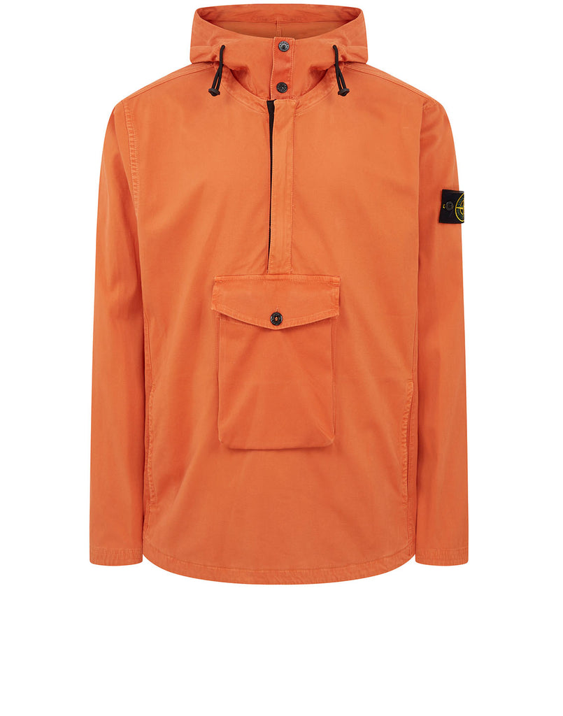 10702 OLD DYE TREATMENT Overshirt in Orange
