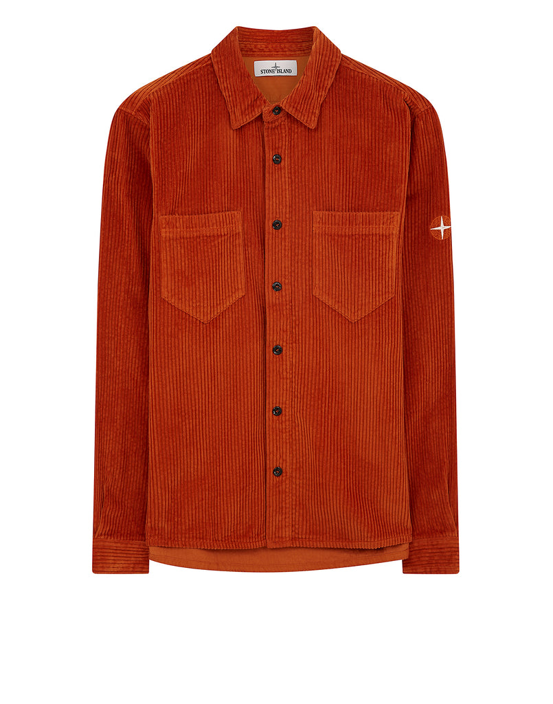 11209 Corduroy Overshirt in Orange