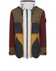 42155 TELA PLACCATA BICOLORE Jacket With Gilet in Mustard