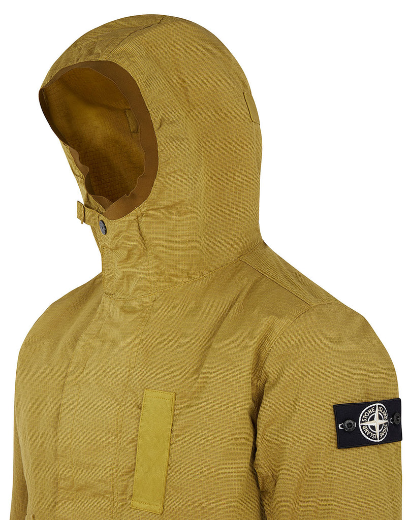 43999 REFLECTIVE WEAVE RIPSTOP-TC WITH PANNO JACQUARD_DETACHABLE LINING Jacket in Mustard