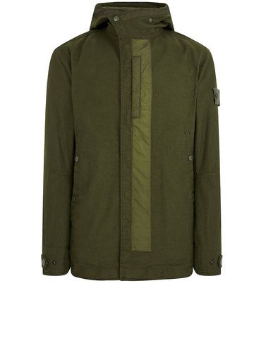 442F1 GHOST PIECE  MIL SPEC DIAGONAL WOOL Jacket in Military Green