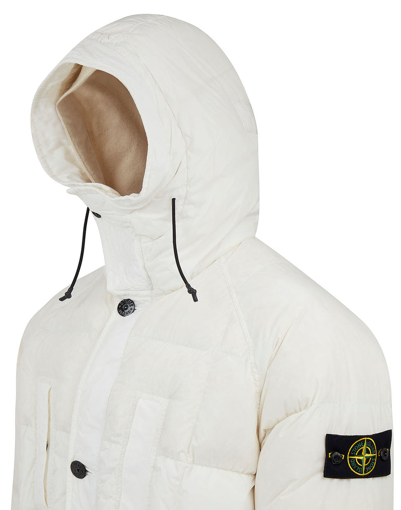 70123 Garment Dyed Crinkle Reps NY Down Jacket in Natural