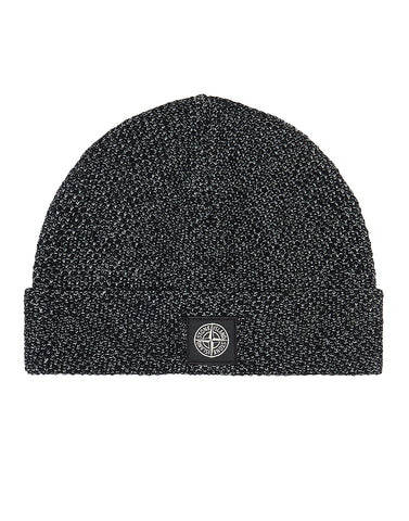 N16C6 REFLECTIVE BEANIE in Black