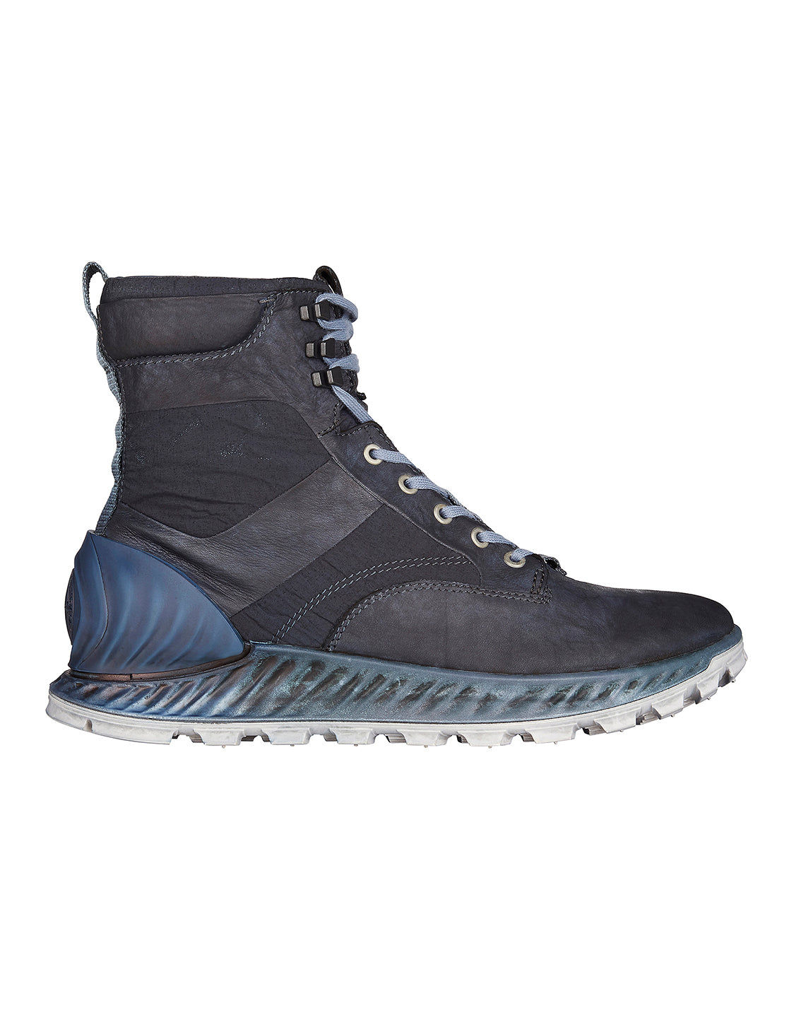 S0695 Garment Dyed Leather Exostrike Boot in Dark Blue