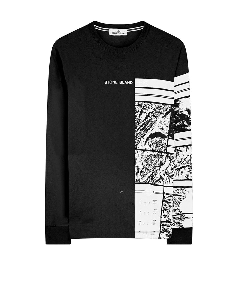 2ML85 MURAL PART 1: Long-sleeve T-Shirt in Black