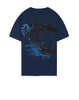 2Ns81 Paint Stroke 2 Short Sleeve T-Shirt in Marine Blue