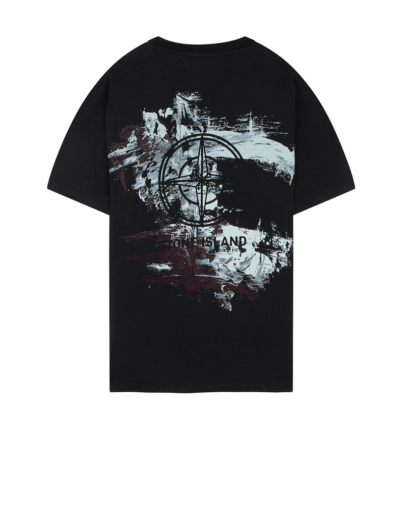 2Ns81 Paint Stroke 2 Short Sleeve T-Shirt in Black