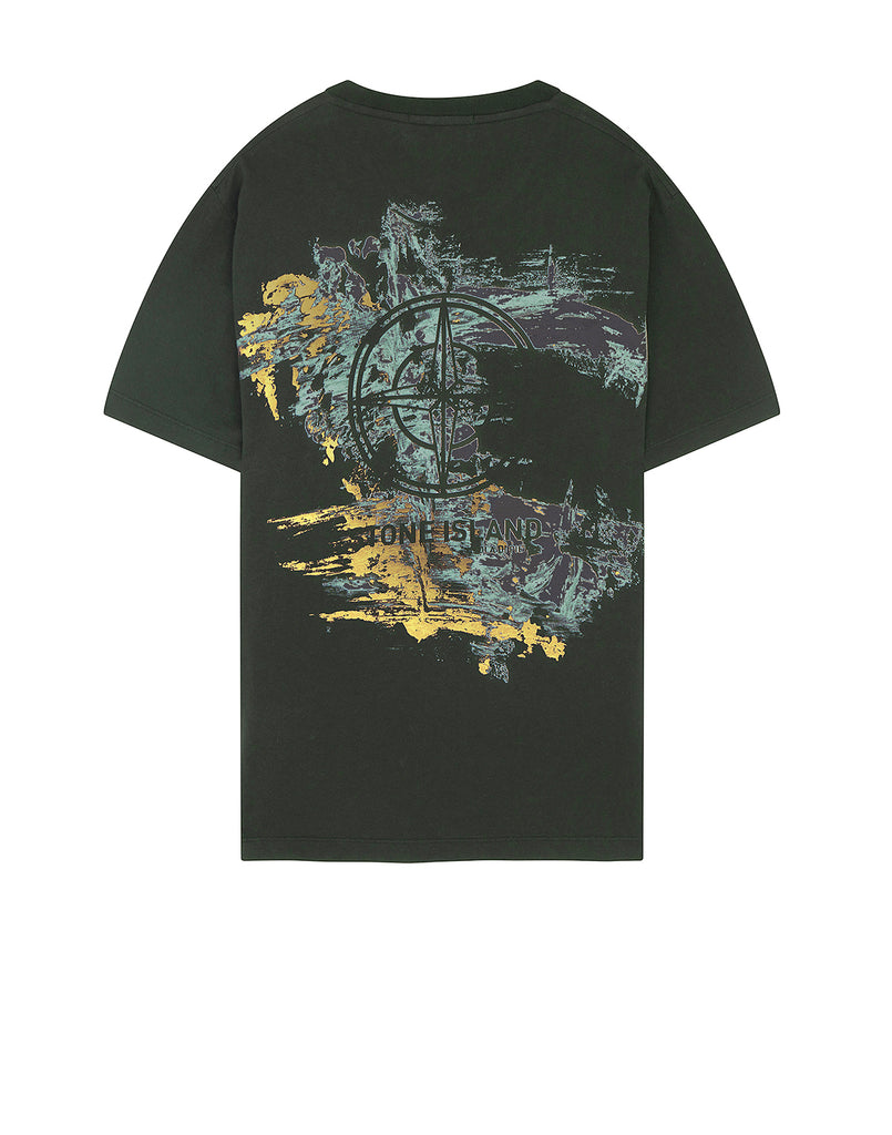 2Ns81 Paint Stroke 2 Short Sleeve T-Shirt in Dark Forest
