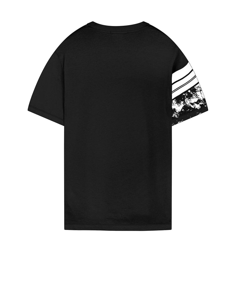 2NS87 MURAL PART 3: Short-sleeve T-shirt in Black