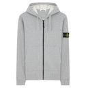 64220 Hooded full zip sweatshirt in Dust