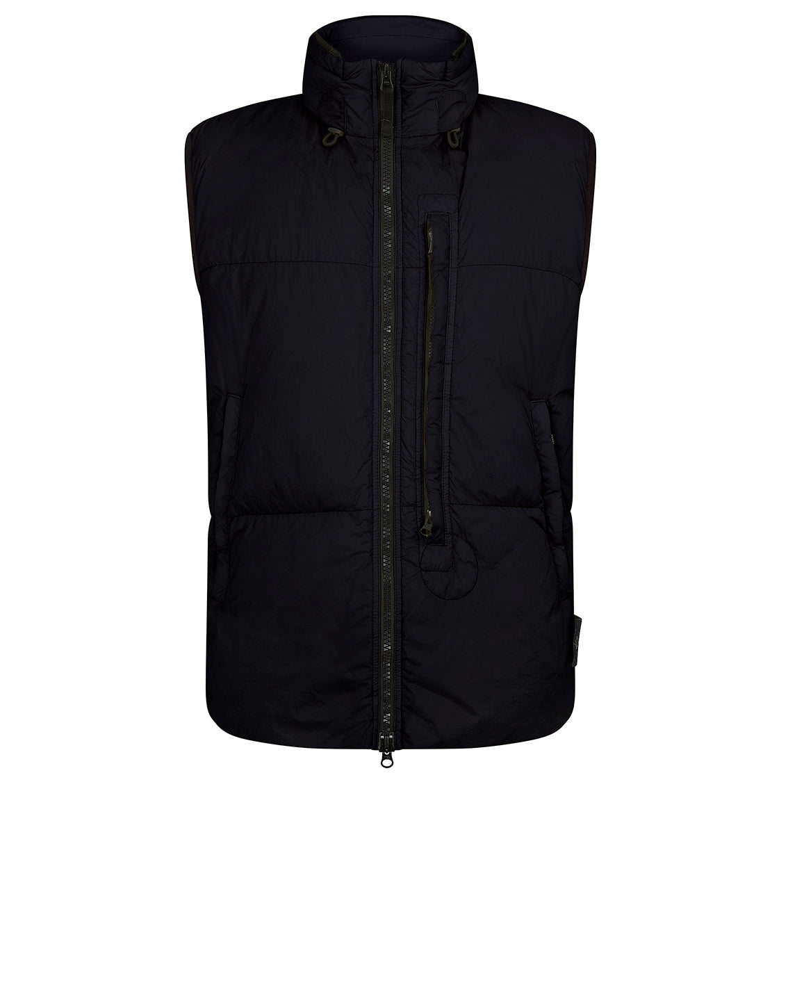 G0123 Garment Dyed Crinkle Reps Ny Down Vest in Navy