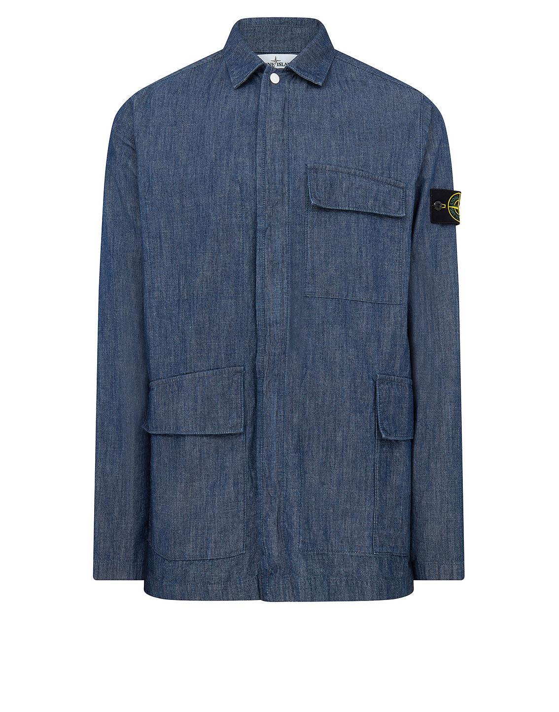 11307 CHAMBRAY CANVAS Overshirt in Blue