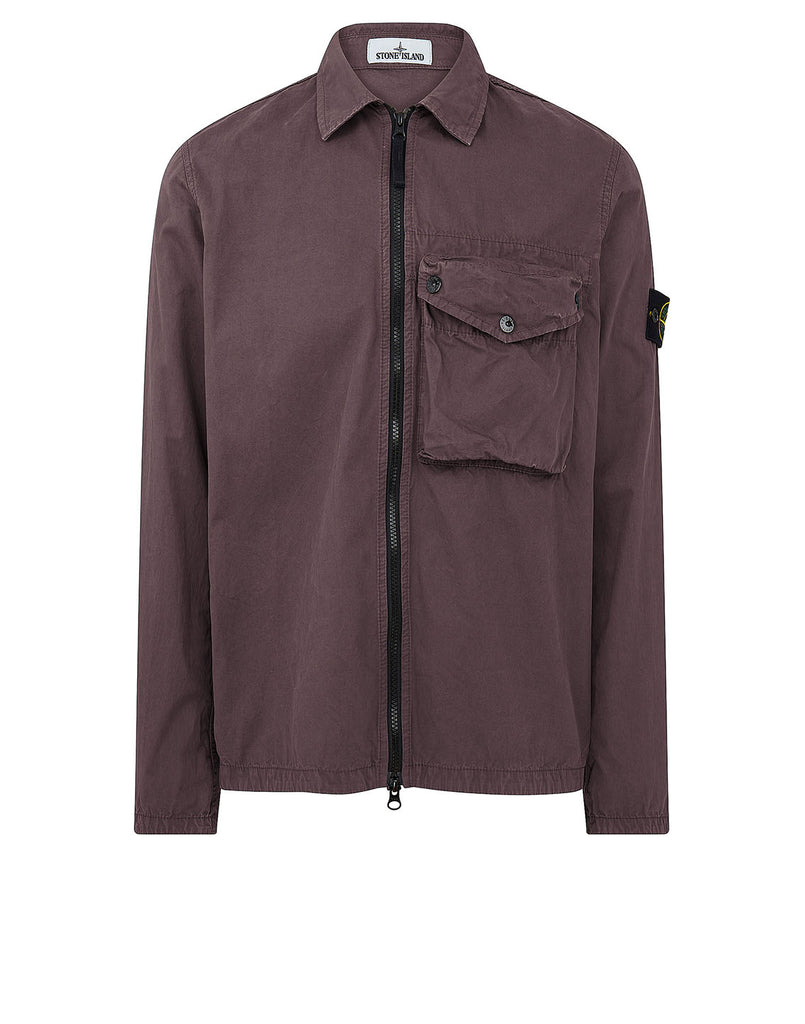 117WN T.CO 'OLD' Overshirt in Burgundy