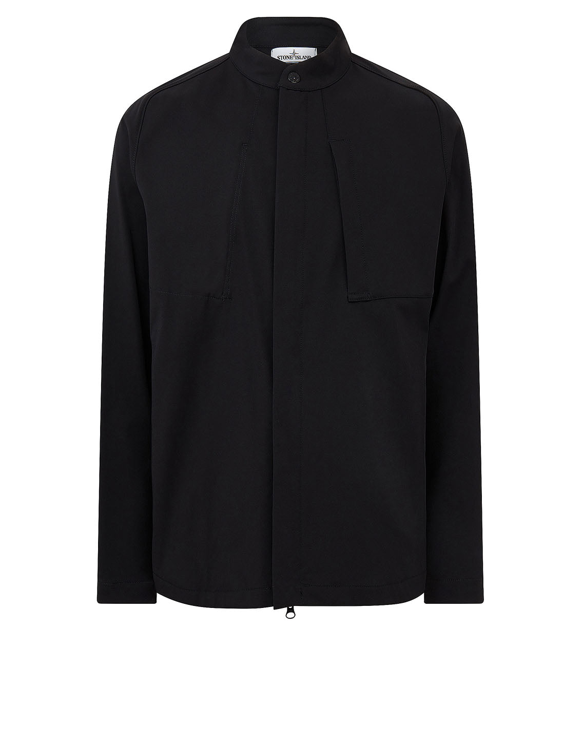 121X4 STONE ISLAND MARINA TWO-WAY STRETCH RECYCLED NYLON TWILL Overshirt in Black