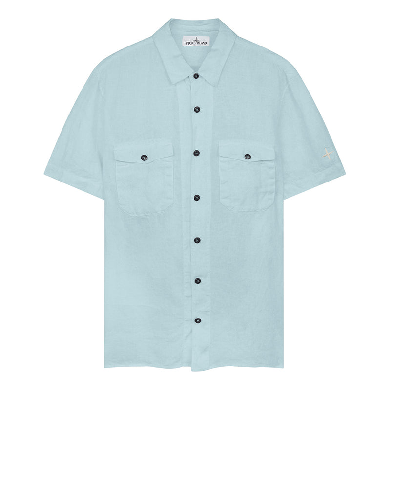 12701 'FISSATO' TREATMENT Shirt in Sky